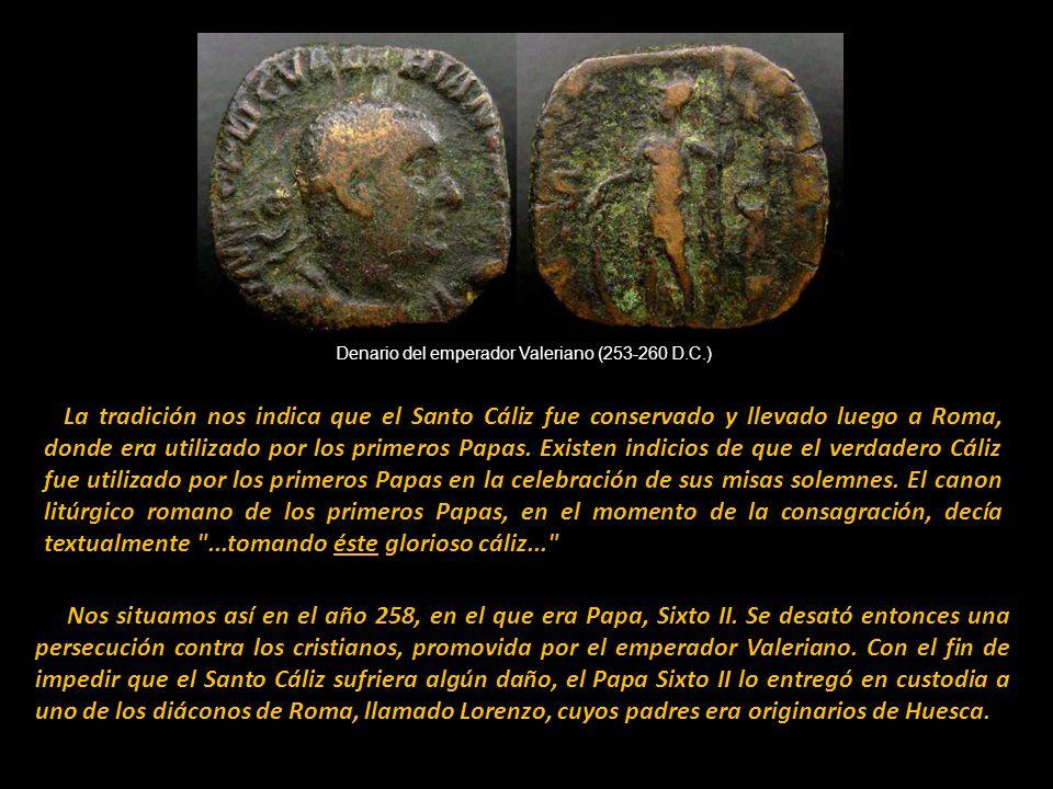 Denario del emperador Valeriano (253-260 D.C.)