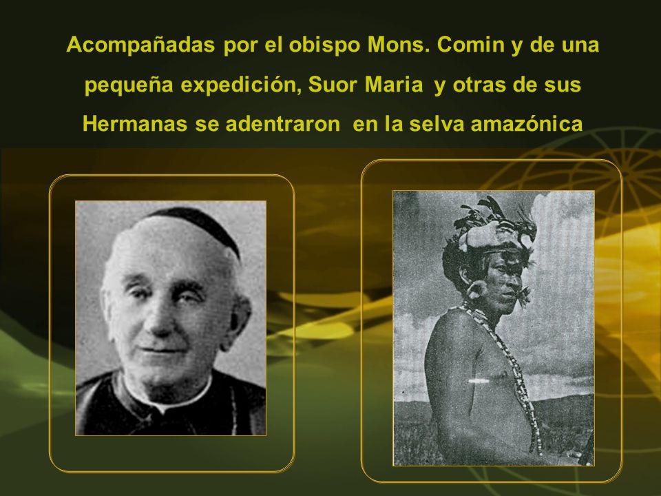 Acompañadas por el obispo Mons