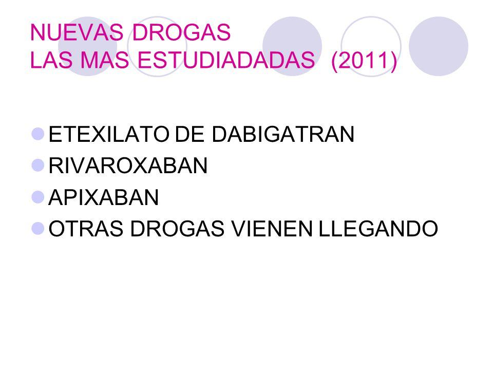 NUEVAS DROGAS LAS MAS ESTUDIADADAS (2011)