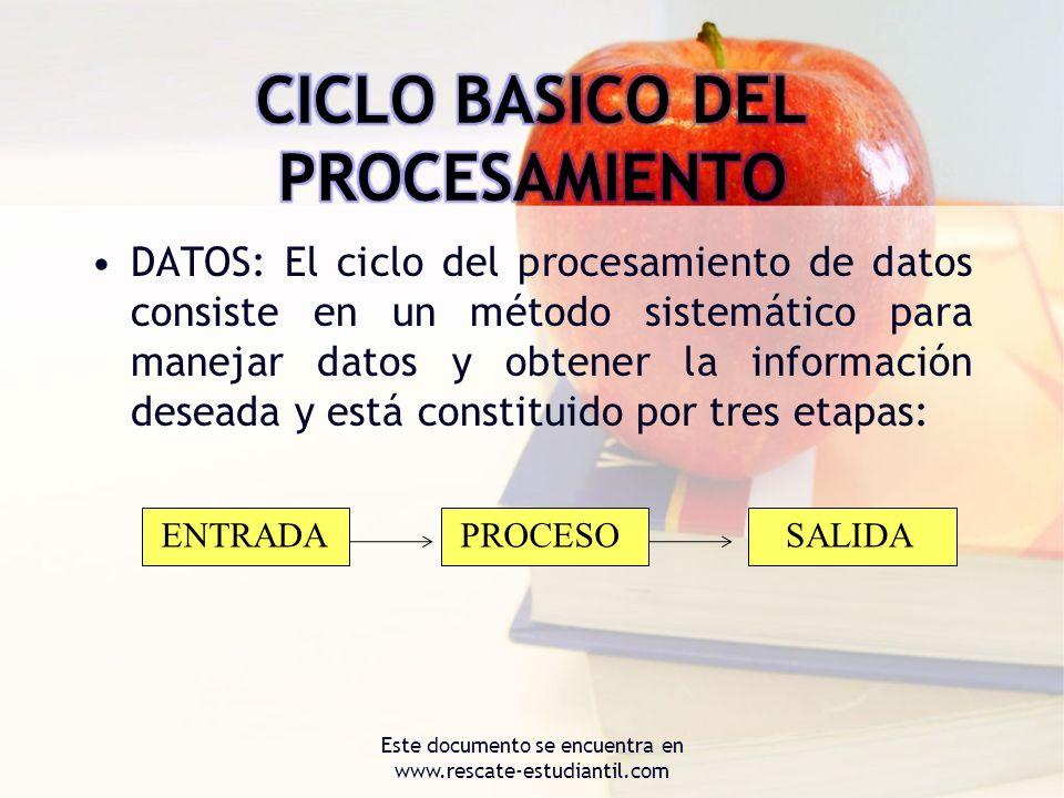 CICLO BASICO DEL PROCESAMIENTO
