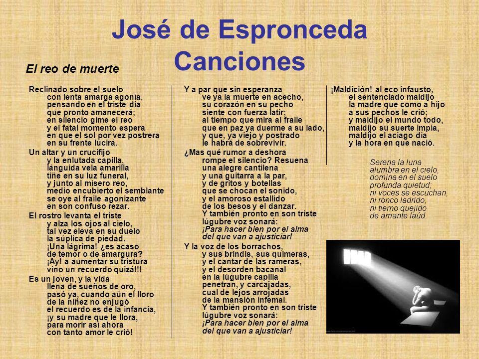 José de Espronceda Canciones