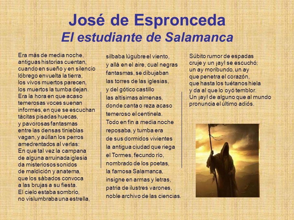 José de Espronceda El estudiante de Salamanca