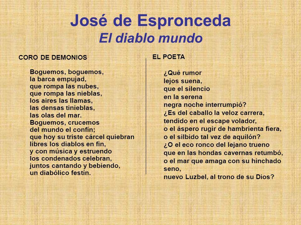 José de Espronceda El diablo mundo