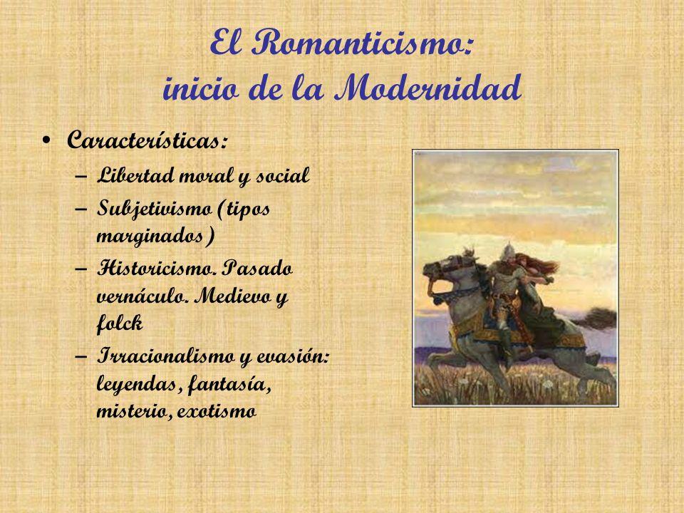 El Romanticismo: inicio de la Modernidad