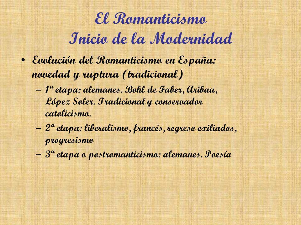 El Romanticismo Inicio de la Modernidad