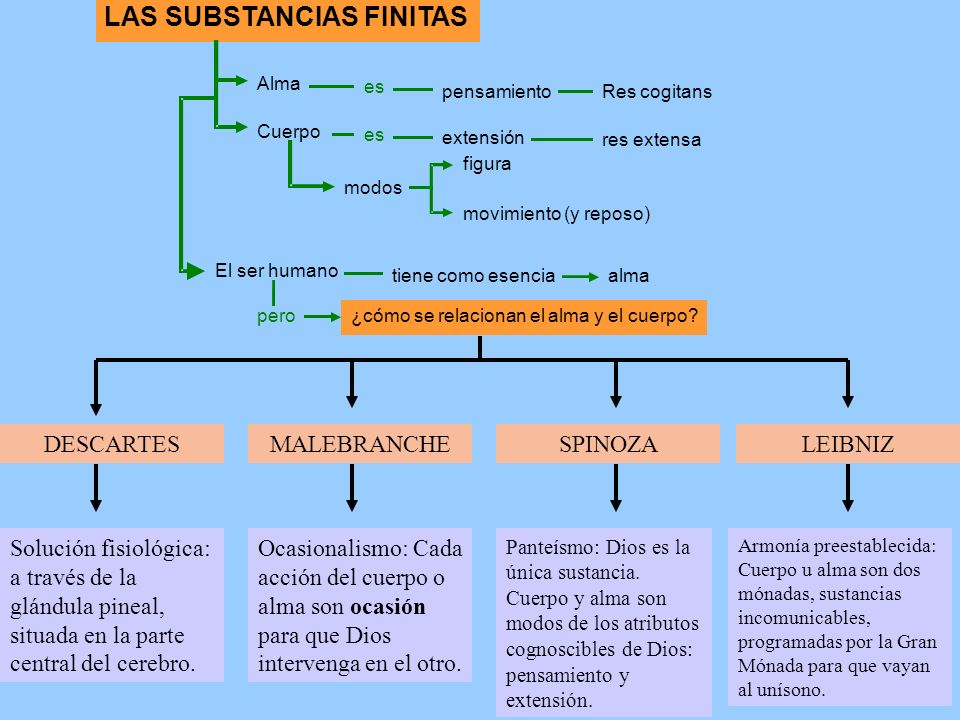 LAS SUBSTANCIAS FINITAS