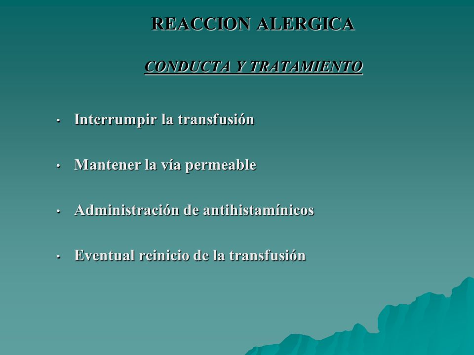 REACCION ALERGICA CONDUCTA Y TRATAMIENTO