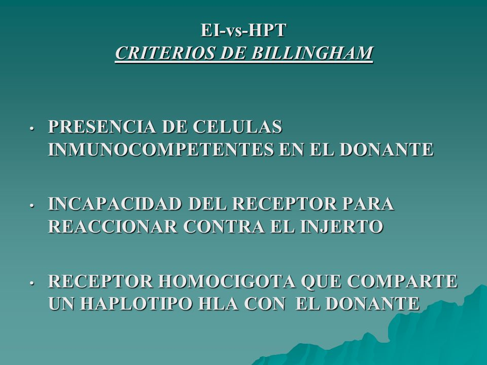 EI-vs-HPT CRITERIOS DE BILLINGHAM