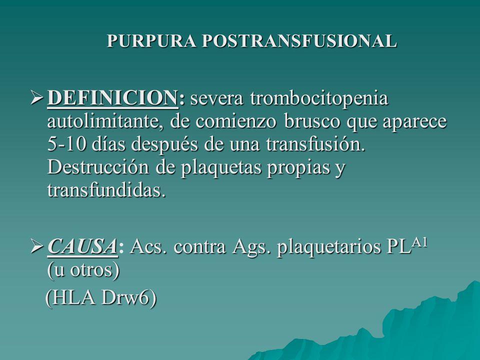 PURPURA POSTRANSFUSIONAL