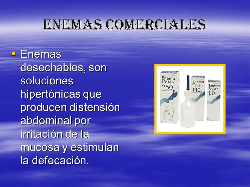 ENEMAS COMERCIALES