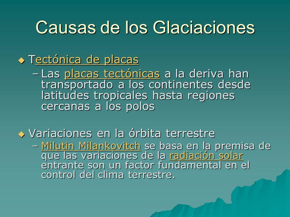 Causas de los Glaciaciones