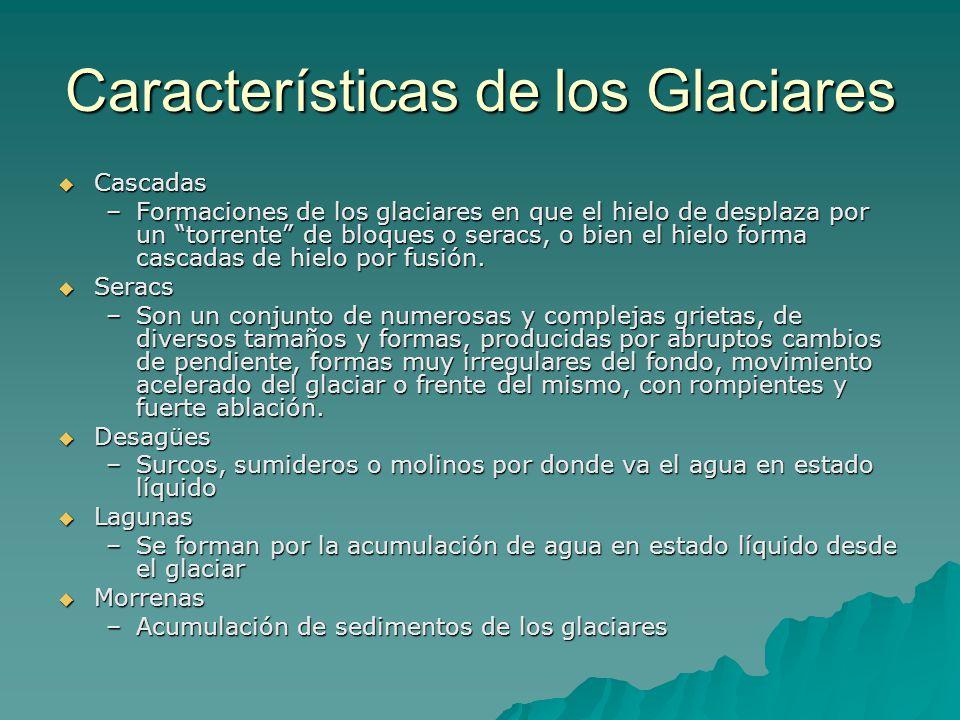 Características de los Glaciares