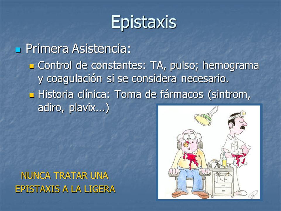 Epistaxis Primera Asistencia:
