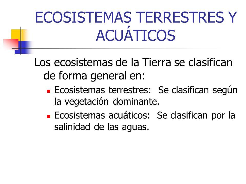 ECOSISTEMAS TERRESTRES Y ACUÁTICOS