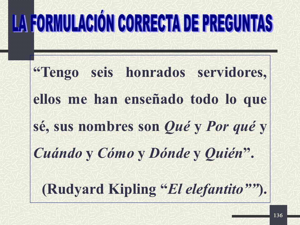 LA FORMULACIÓN CORRECTA DE PREGUNTAS