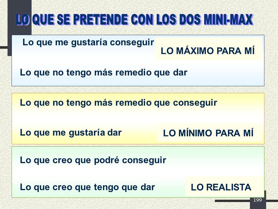 LO QUE SE PRETENDE CON LOS DOS MINI-MAX