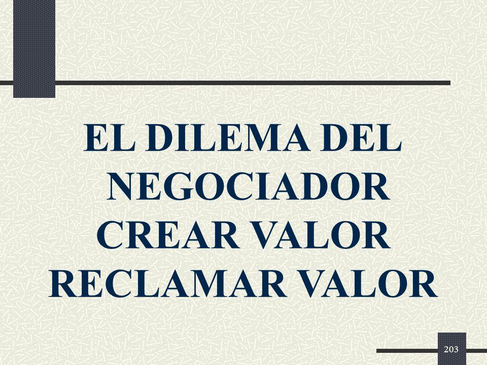 EL DILEMA DEL NEGOCIADOR CREAR VALOR RECLAMAR VALOR