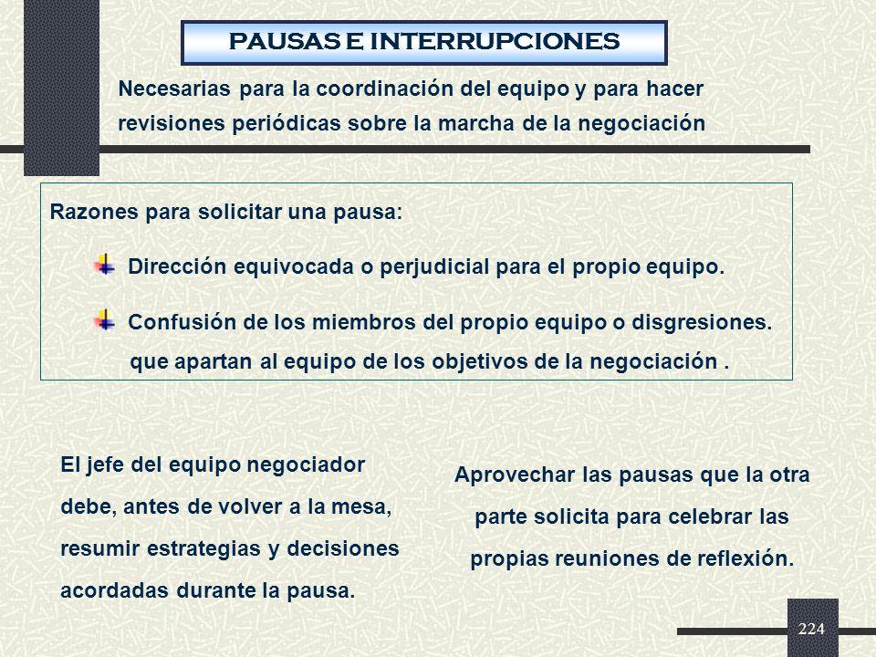 PAUSAS E INTERRUPCIONES