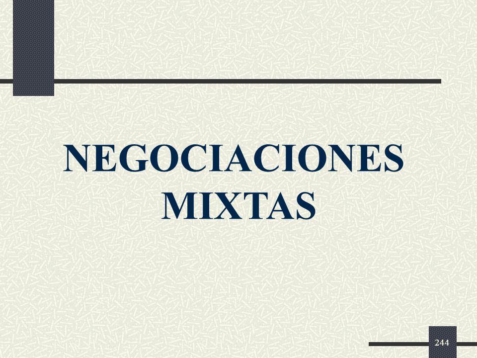 NEGOCIACIONES MIXTAS