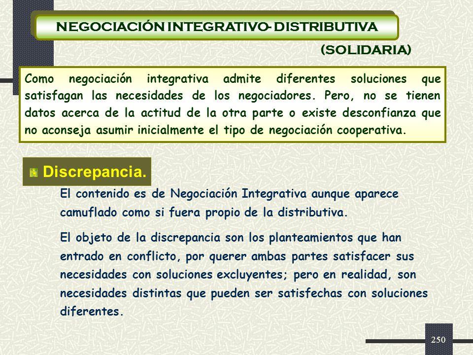 NEGOCIACIÓN INTEGRATIVO- DISTRIBUTIVA
