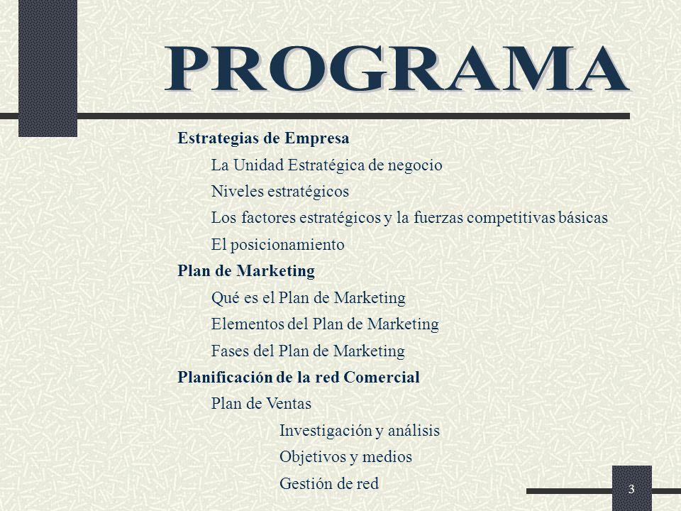 PROGRAMA Estrategias de Empresa La Unidad Estratégica de negocio