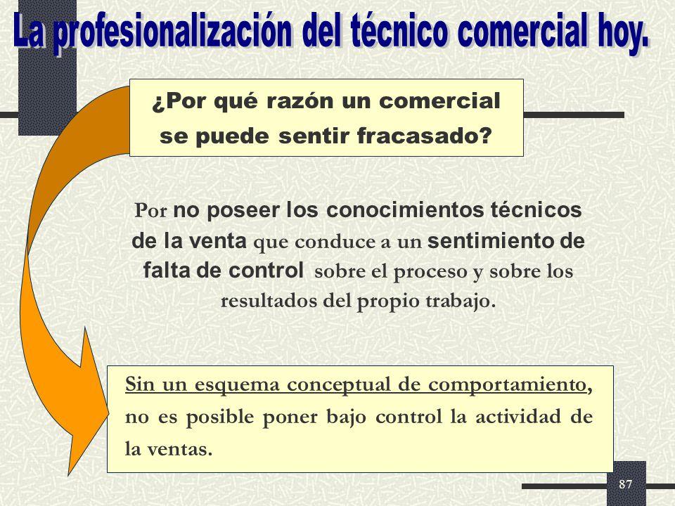 La profesionalización del técnico comercial hoy.
