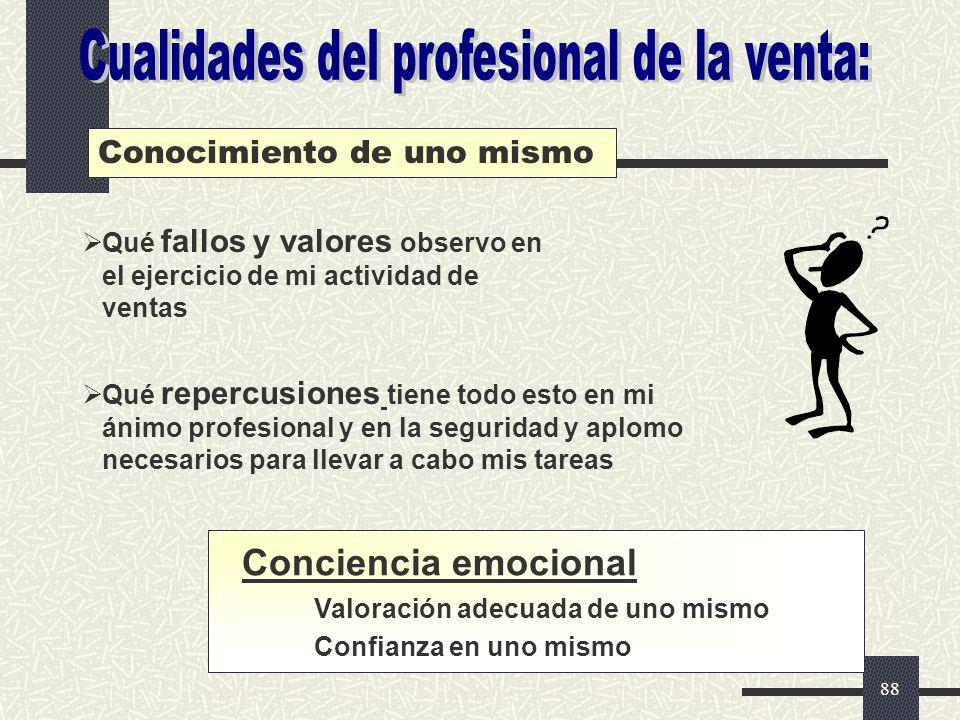 Cualidades del profesional de la venta:
