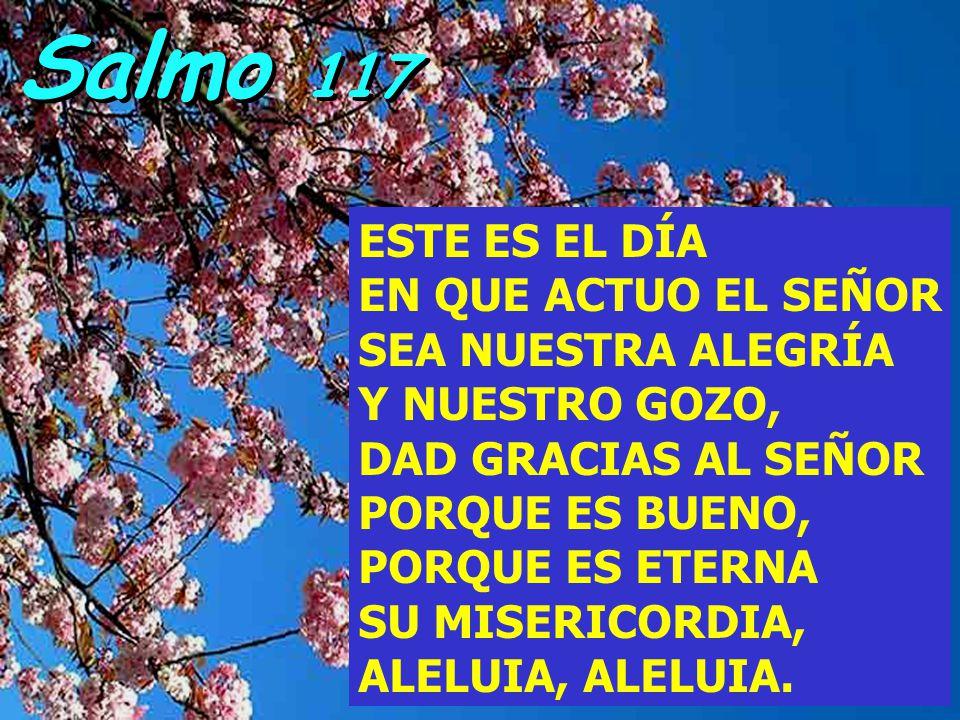 Salmo 117 ESTE ES EL DÍA EN QUE ACTUO EL SEÑOR SEA NUESTRA ALEGRÍA