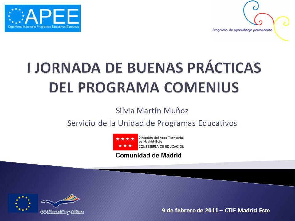 I JORNADA DE BUENAS PRÁCTICAS DEL PROGRAMA COMENIUS