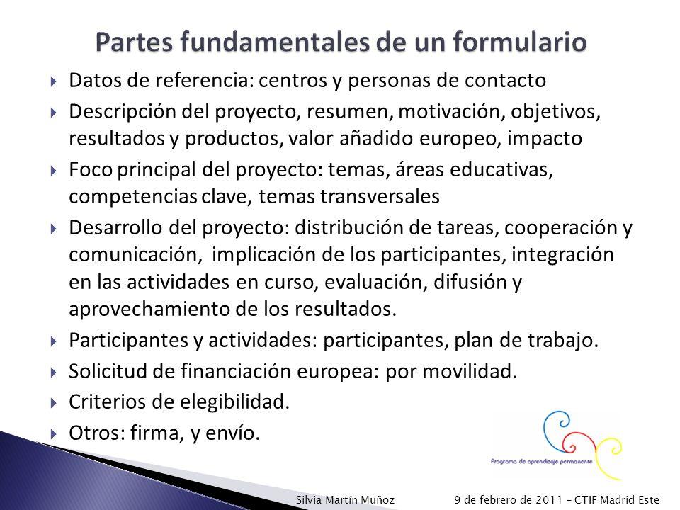 Partes fundamentales de un formulario