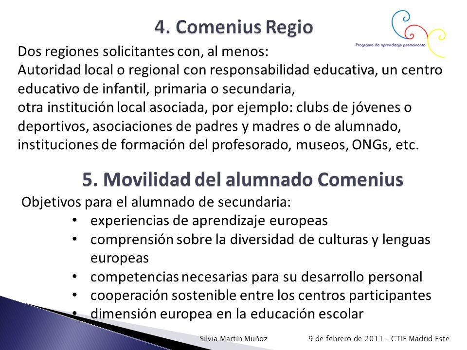 5. Movilidad del alumnado Comenius