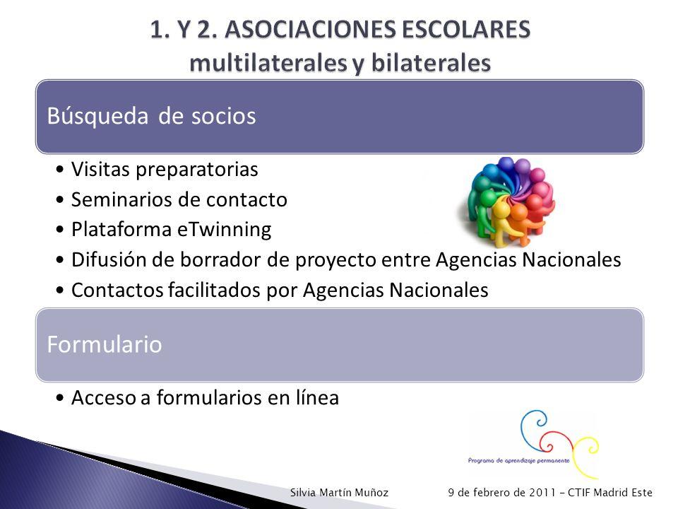 1. Y 2. ASOCIACIONES ESCOLARES multilaterales y bilaterales