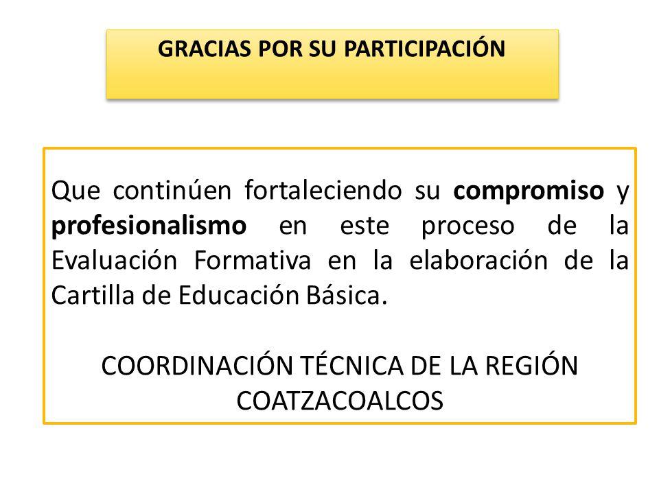 COORDINACIÓN TÉCNICA DE LA REGIÓN COATZACOALCOS
