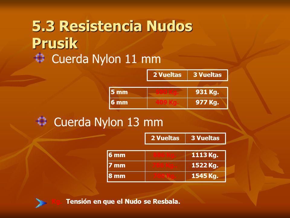 5.3 Resistencia Nudos Prusik