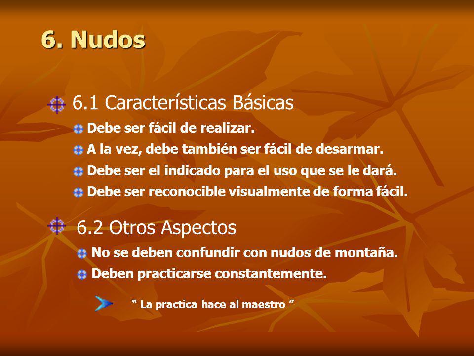 6. Nudos 6.1 Características Básicas 6.2 Otros Aspectos