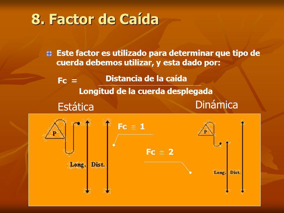 8. Factor de Caída Dinámica Estática