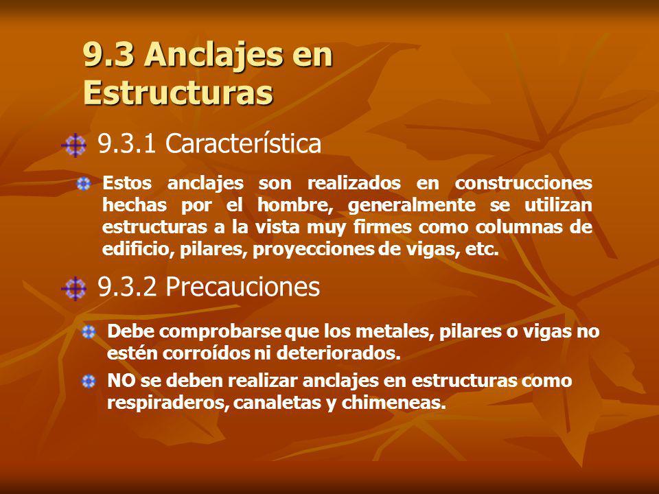 9.3 Anclajes en Estructuras