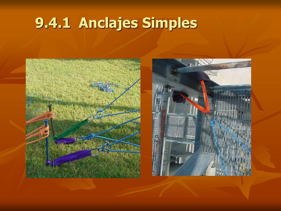 9.4.1 Anclajes Simples Foto Anclaje de cuerda Foto Anclaje de cinta