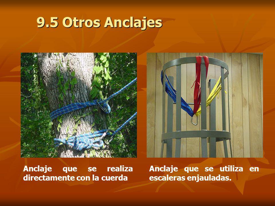 9.5 Otros Anclajes Anclaje que se realiza directamente con la cuerda