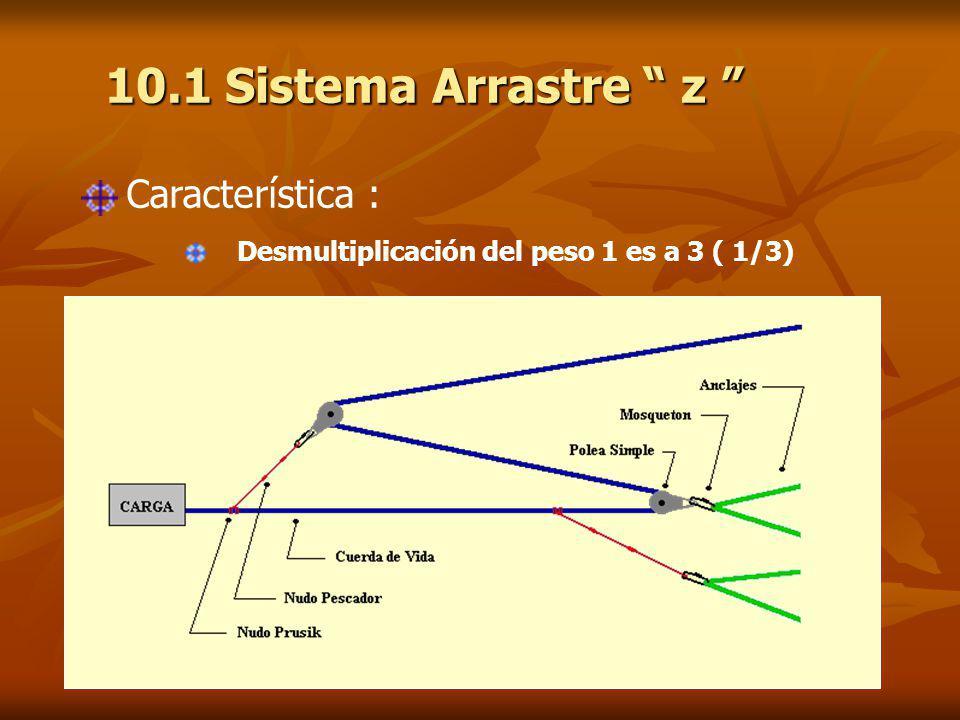 10.1 Sistema Arrastre z Característica :