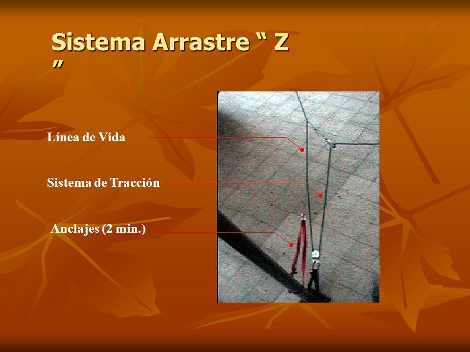 Sistema Arrastre Z Línea de Vida Sistema de Tracción
