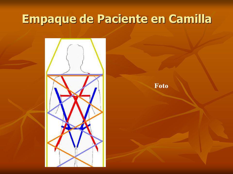 Empaque de Paciente en Camilla