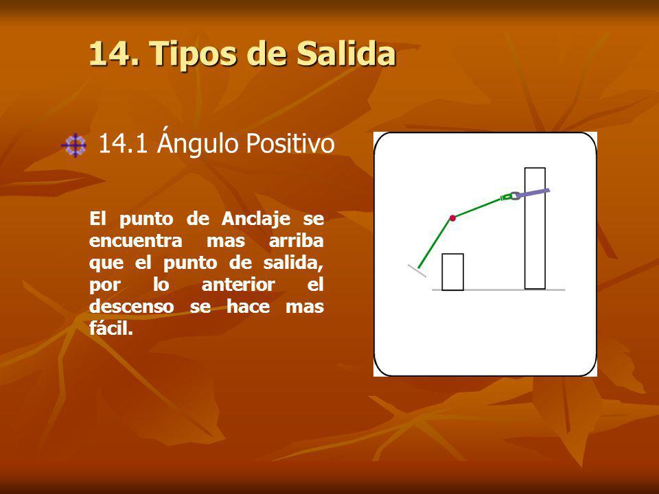 14. Tipos de Salida 14.1 Ángulo Positivo