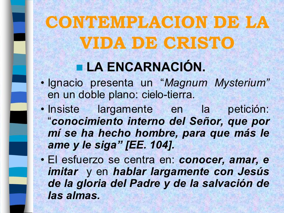 CONTEMPLACION DE LA VIDA DE CRISTO