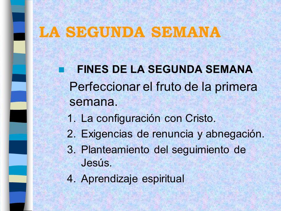 FINES DE LA SEGUNDA SEMANA