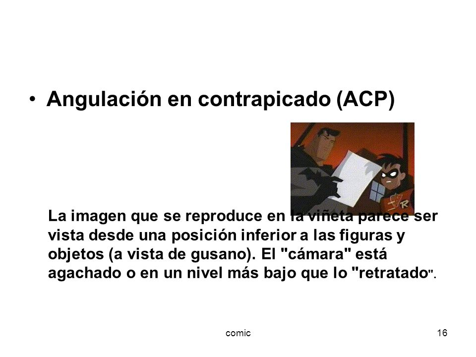 Angulación en contrapicado (ACP)