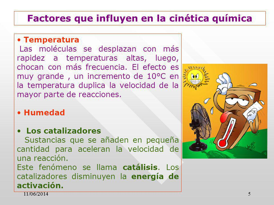 Factores que influyen en la cinética química