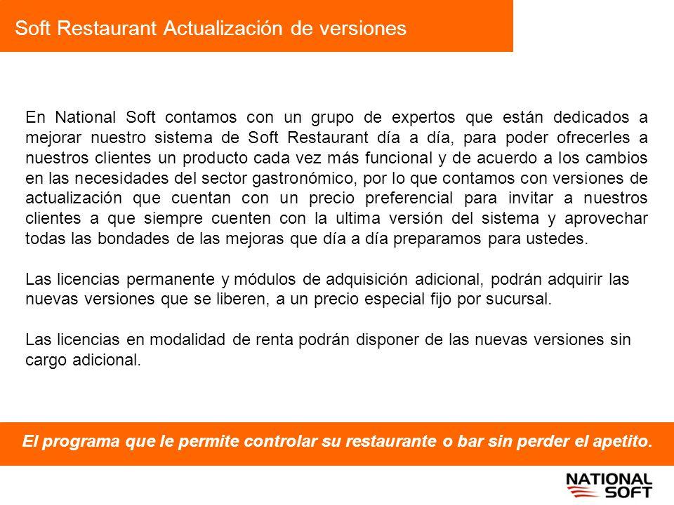 Soft Restaurant Actualización de versiones
