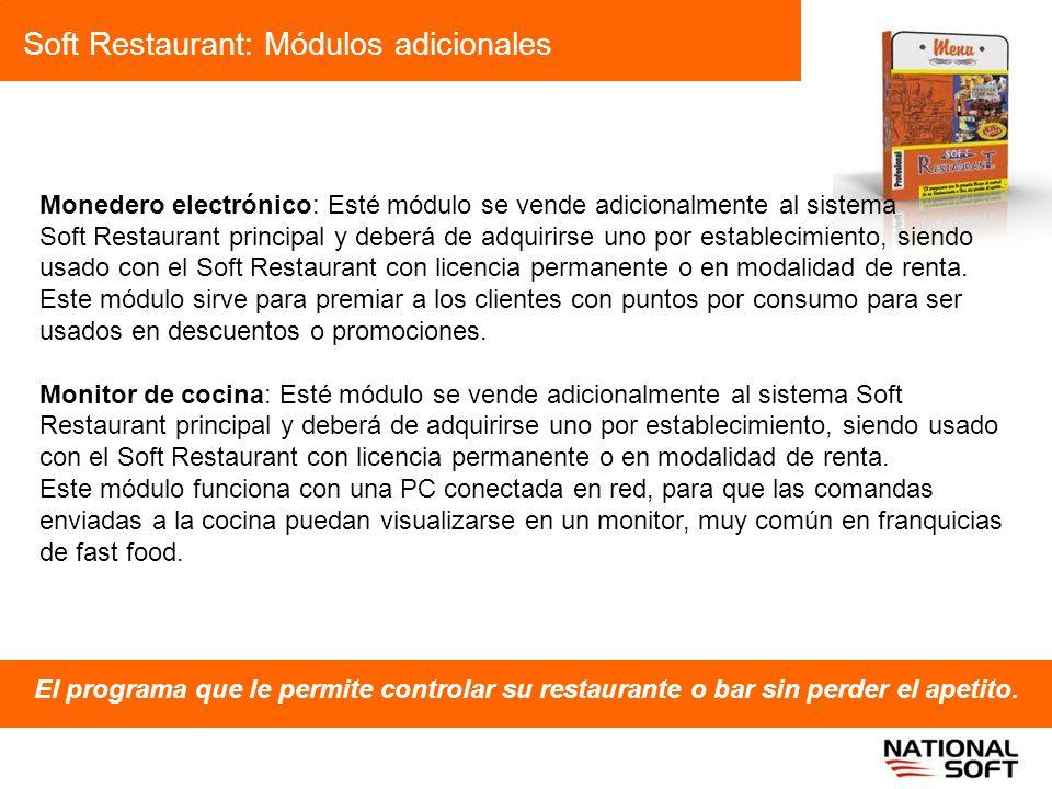 Soft Restaurant: Módulos adicionales