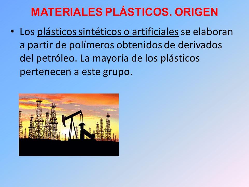 MATERIALES PLÁSTICOS. ORIGEN